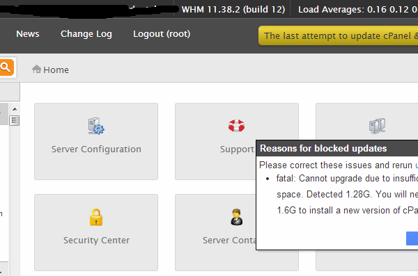 cpanel-server-version-change-blocked