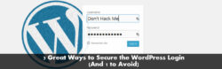 secure your worpress login