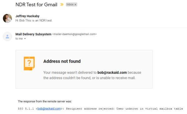 gmail bounce