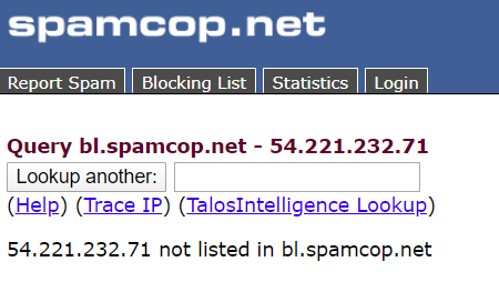 spamcop blacklist check