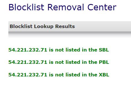spamhaus blacklist removal